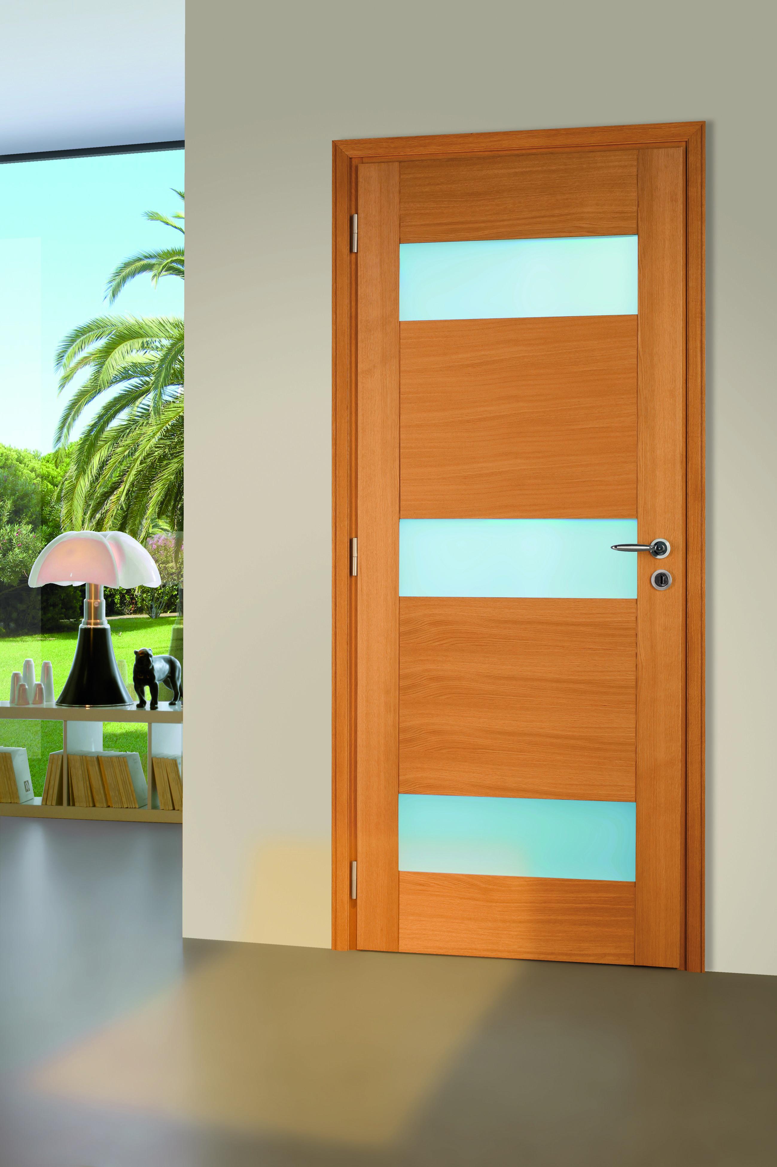 Modèle Flat Pleine Vitrée Porte Intérieur Design En Bois Massif - Porte pleine bois massif