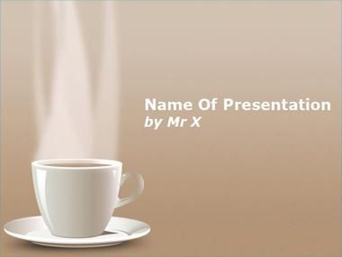 hot cup of coffee powerpoint template