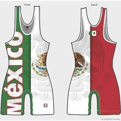 """The Brute Sublimated Mexico Singlet! A Brute Heavyweight Sublimated Singlet made with Evaptech Performance Wicking technology aides the body""""s natural cooling processes. Athletes sweat in order to reg"""
