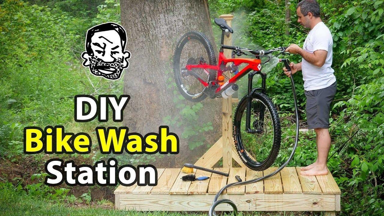 Diy Mountain Bike Wash Station Mountain Biking Bike Cleaning