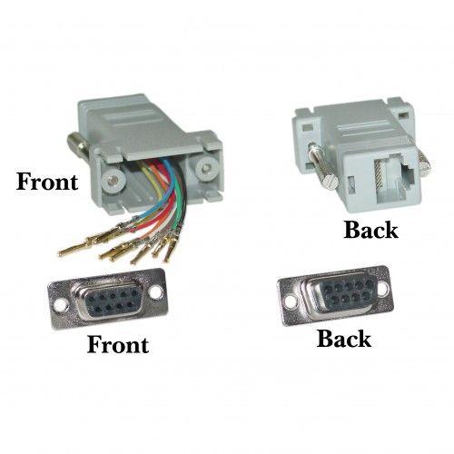 Modular Adapter Gray Db9 Female To Rj45 Jack Rj45 Modular Adapter