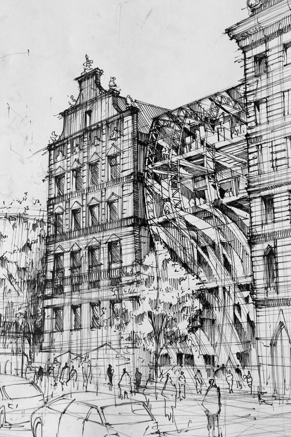 Modern Architecture Blueprints architecture drawingsartur stepniak | sketches, architecture
