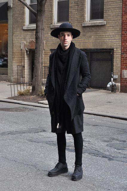 Pablo, dressed all in black