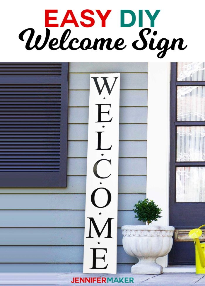 Easy Vertical Sign Reversible for the Holidays