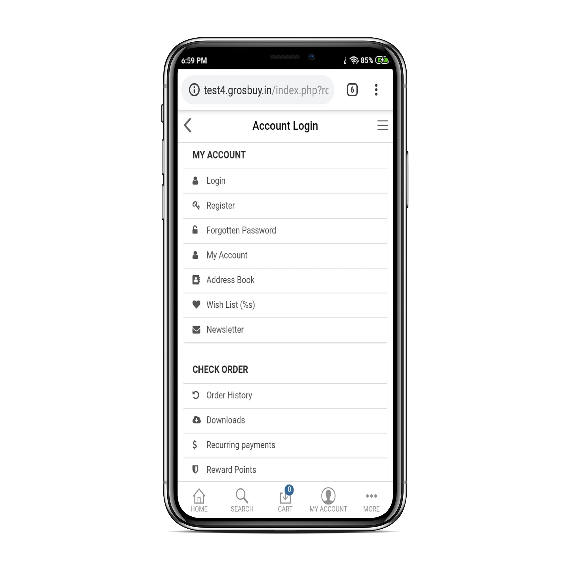 Opencart Mobile App for iOS and Android Mobile app