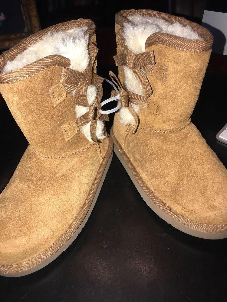 0b2432cd400 eBay #Sponsored Koolaburra By Uggs Suede Sheepskin Boots Youth Size ...