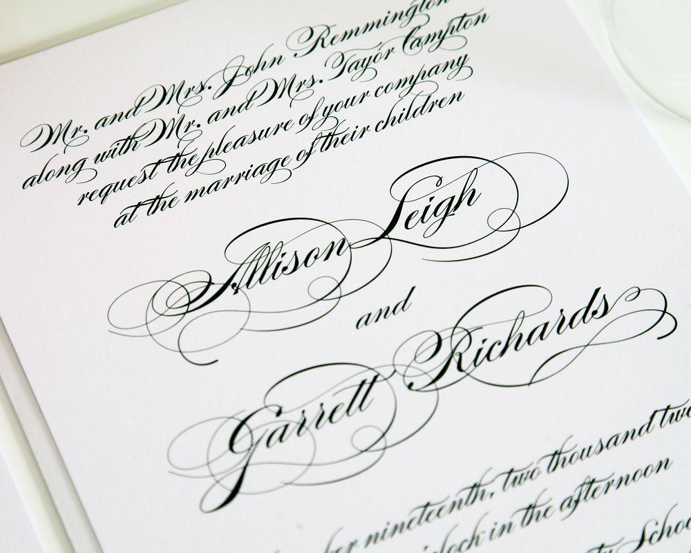 Elegant Script Wedding Invitations | Weddings, Shine wedding ...