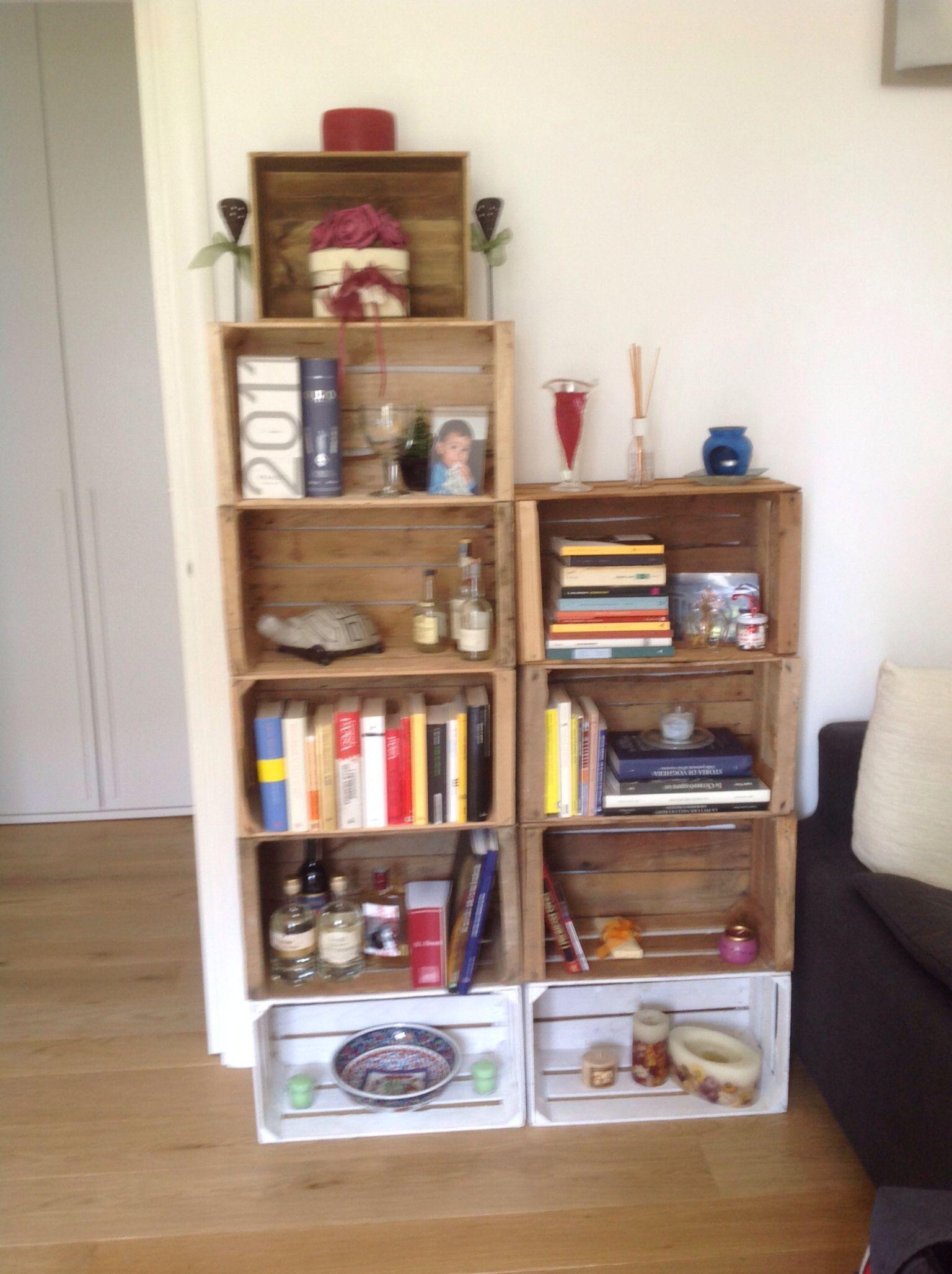 My crate storege bookshelf