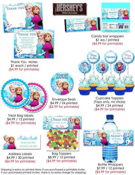 Frozen Invitation - Frozen Birthday Invitation - Disney Frozen Party - invitation birthday frozen