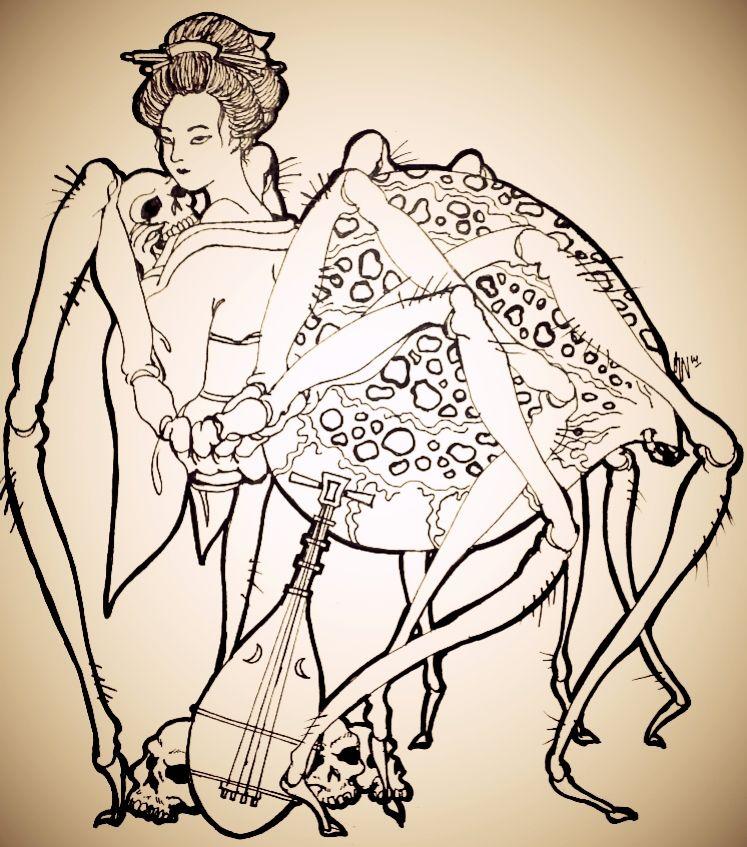 Image result for jorogumo spider demon