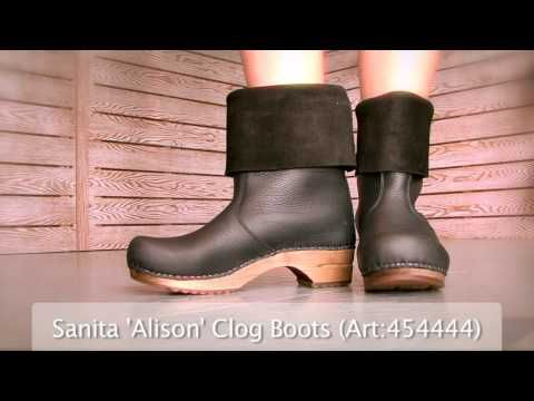 Sanita Alison roll-top clog boot £99 from World of Clogs, £119 from Plumo.