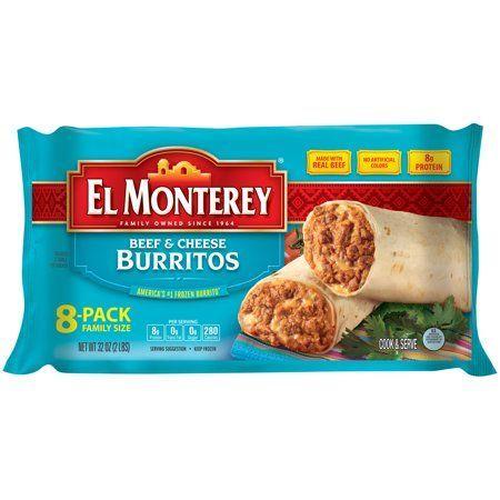 El Monterey Beef and Cheese Burritos, Authentic Mexican Recipe Frozen Burritos, 8 Count Bag - Walmart.com #authenticmexicansalsa El Monterey Beef and Cheese Burritos, Authentic Mexican Recipe Frozen Burritos, 8 Count Bag #authenticmexicansalsa