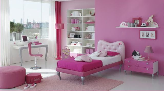 Dormitorios barbie quarto barbie bedrooms by dormitorios for Chica morada y rosa habitacion deco
