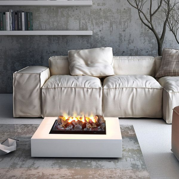 Freestanding Electric Fireplace Dickinson With Water Vapour 1 010 Liked On Polyvore Featur Portable Fireplace Electric Fireplace Modern Portable Fireplace