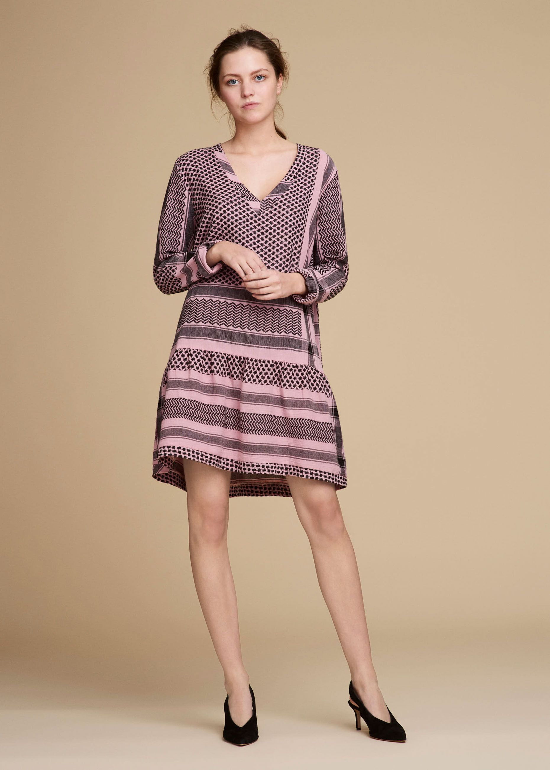 Cecilie Copenhagen - Dress 2, V, Long Sleeves - Dresses ...