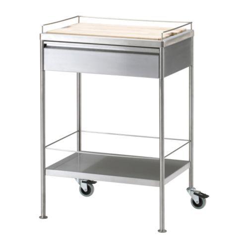 Flytta Kitchen Cart Stainless Steel 38 5 8x22 1 2 Kitchen