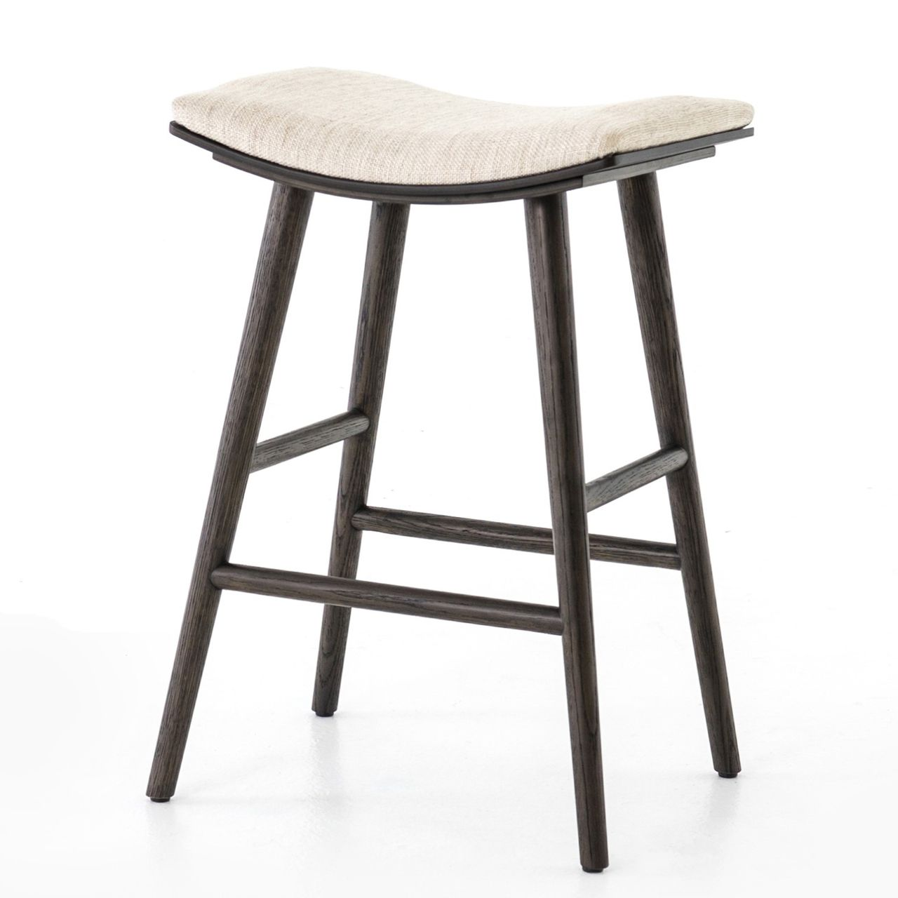 Saddle Mid Century Oak Counter Stool Counter Stools Cozy Seats Black Dining Room Chairs
