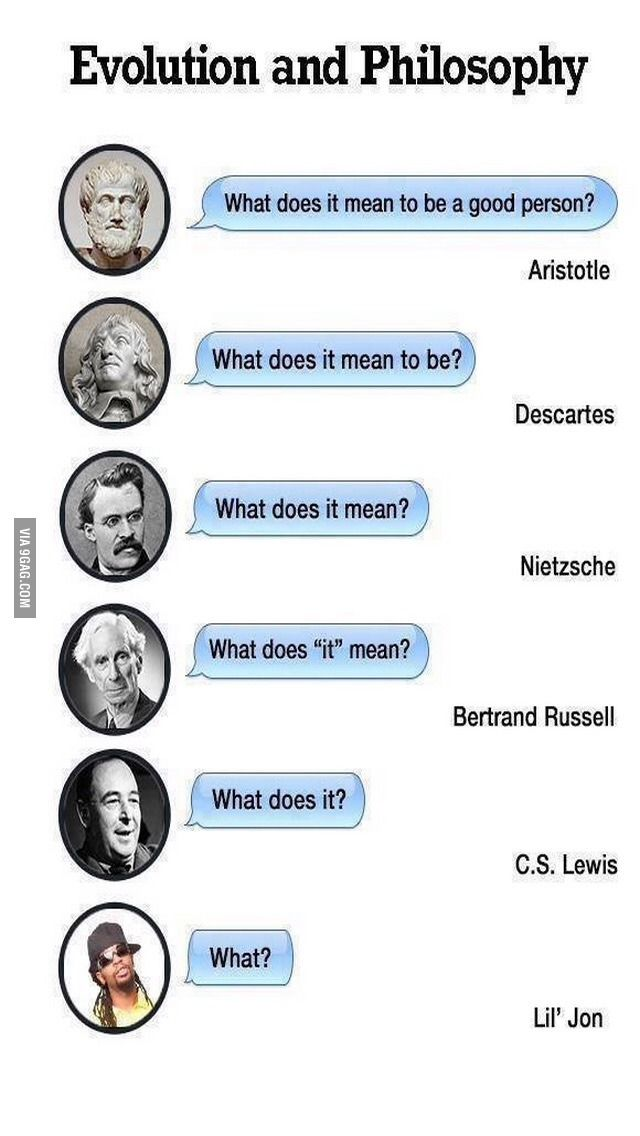 Evolution of philosophy. (With images) | Philosophy memes ...
