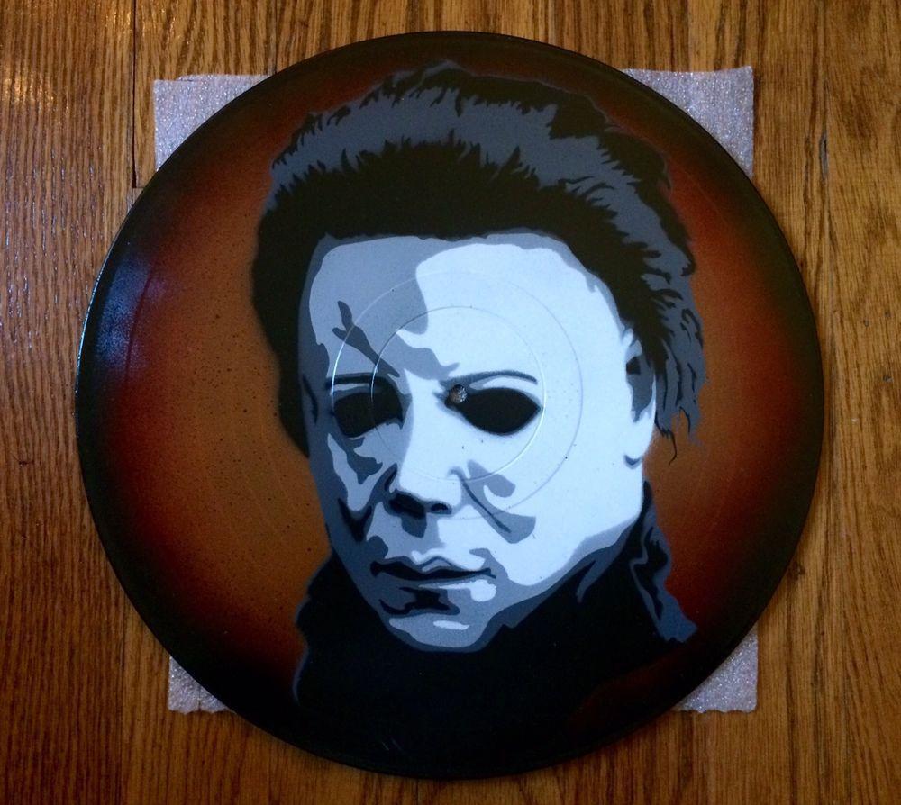 Halloween Michael Myers Vinyl Record Stencil Art Spray Paint Disc ...