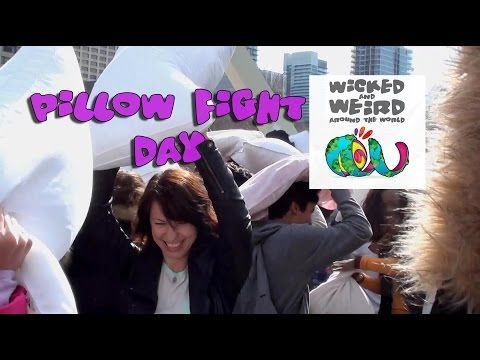 Wicked and Weird Around the World Whack a Friend on International Pillow Fight Day!
