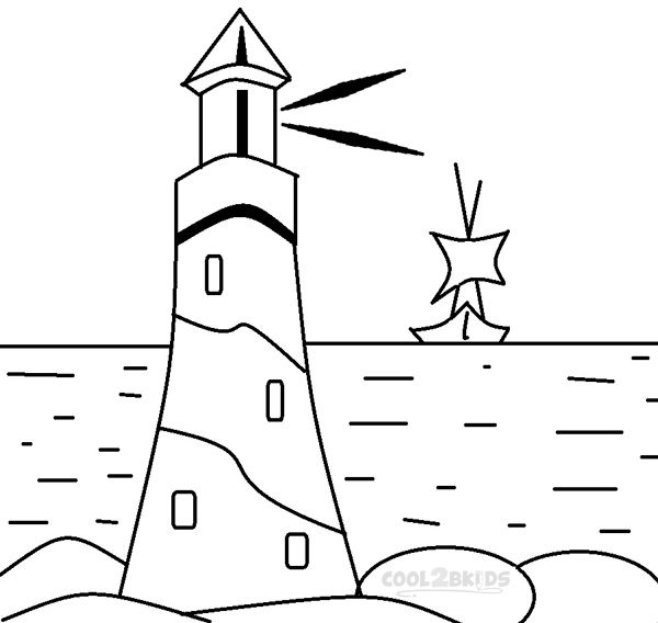 Genial Lighthouse Coloring Pages For Kids Images