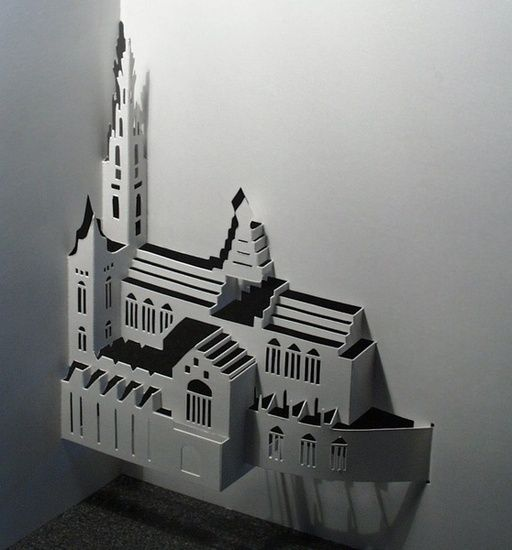 Cathedral, by Ingrid Siliakus | Paper Love | Pinterest | Kirigami ...