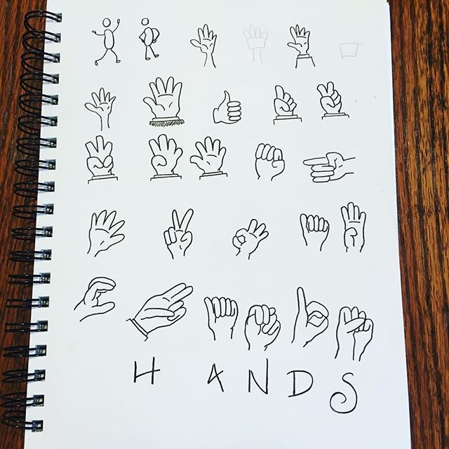 More catching up! I started to do some bean people and then changed my mind and switched to hands. I was kind of dreading it (hands are hard!), but I like the way some of them came out... #therevisionguide_52wvv #52wvv_week3 #hands #doodle