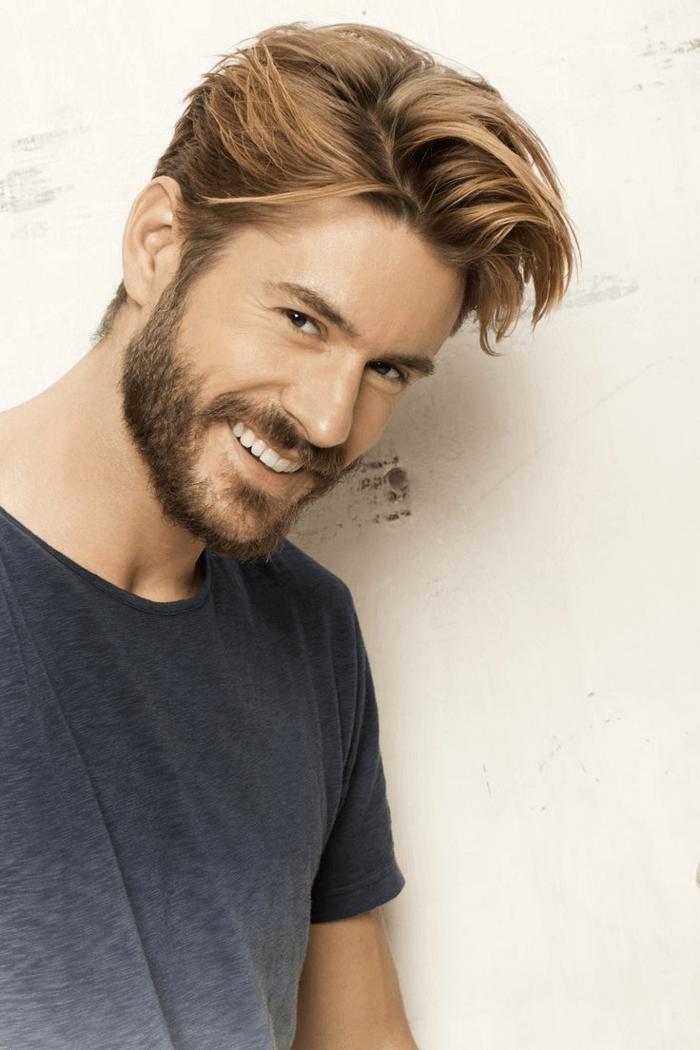 Trendy Frisuren Männer Dunkelblond