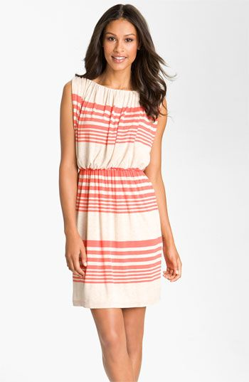 Suzi Chin for Maggy Boutique Stripe Jersey Blouson Dress available at #Nordstrom $148