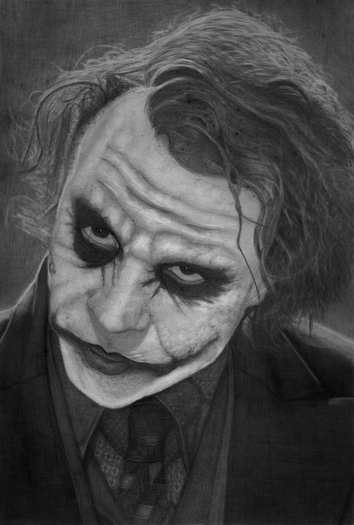 My Pencil Drawing Of Heath Ledger As The Joker From The Dark Knight | Heath Ledger | Pinterest ...