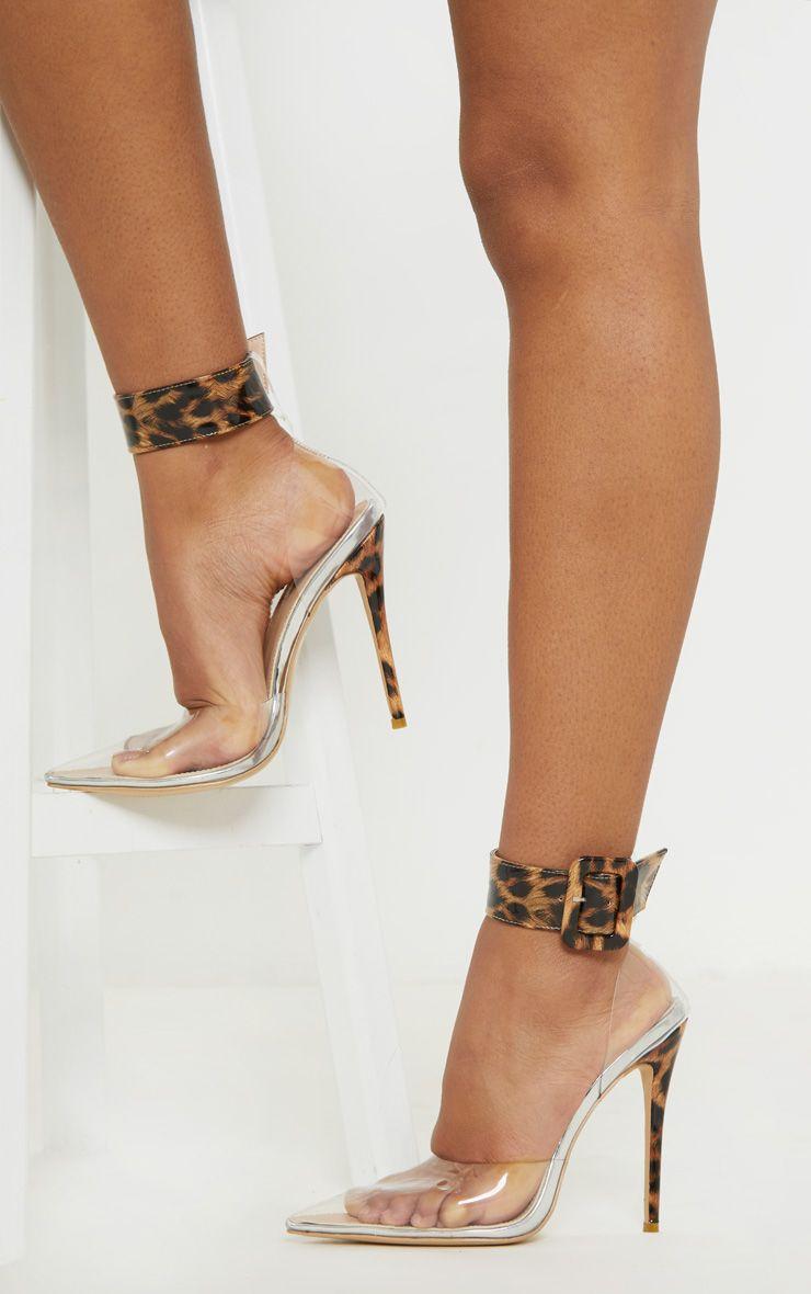Leopard Cuff Detail Court Shoes