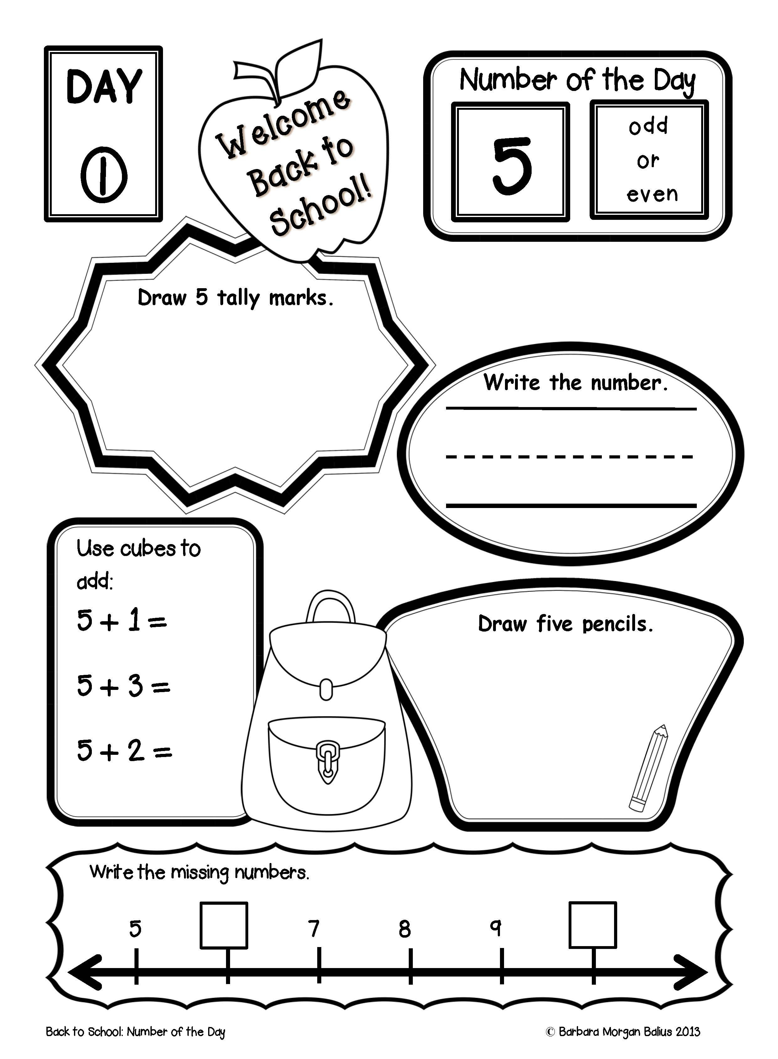 Morning Work Place Value Worksheets First Grade Math
