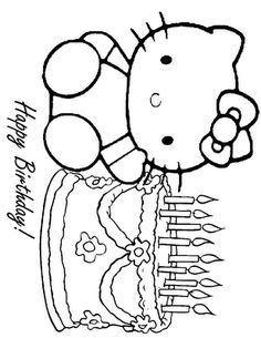 Hello Kitty Birthday Coloring Sheet Hello Kitty Colouring Pages