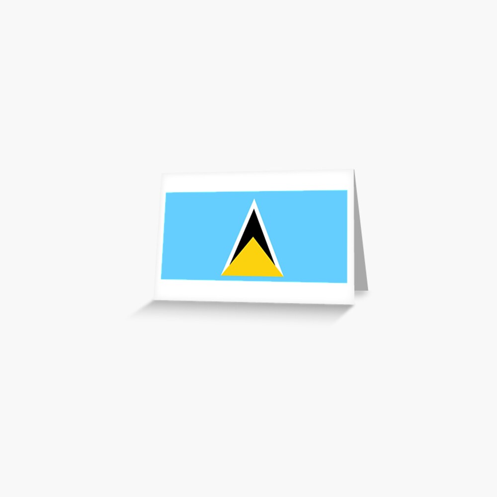 Saint Lucia Flag Saint Lucian Flag Gifts St Lucia Gifts By Gracetee Redbubble In 2020 Saint Lucian Flag St Lucia Flag Flag Gift