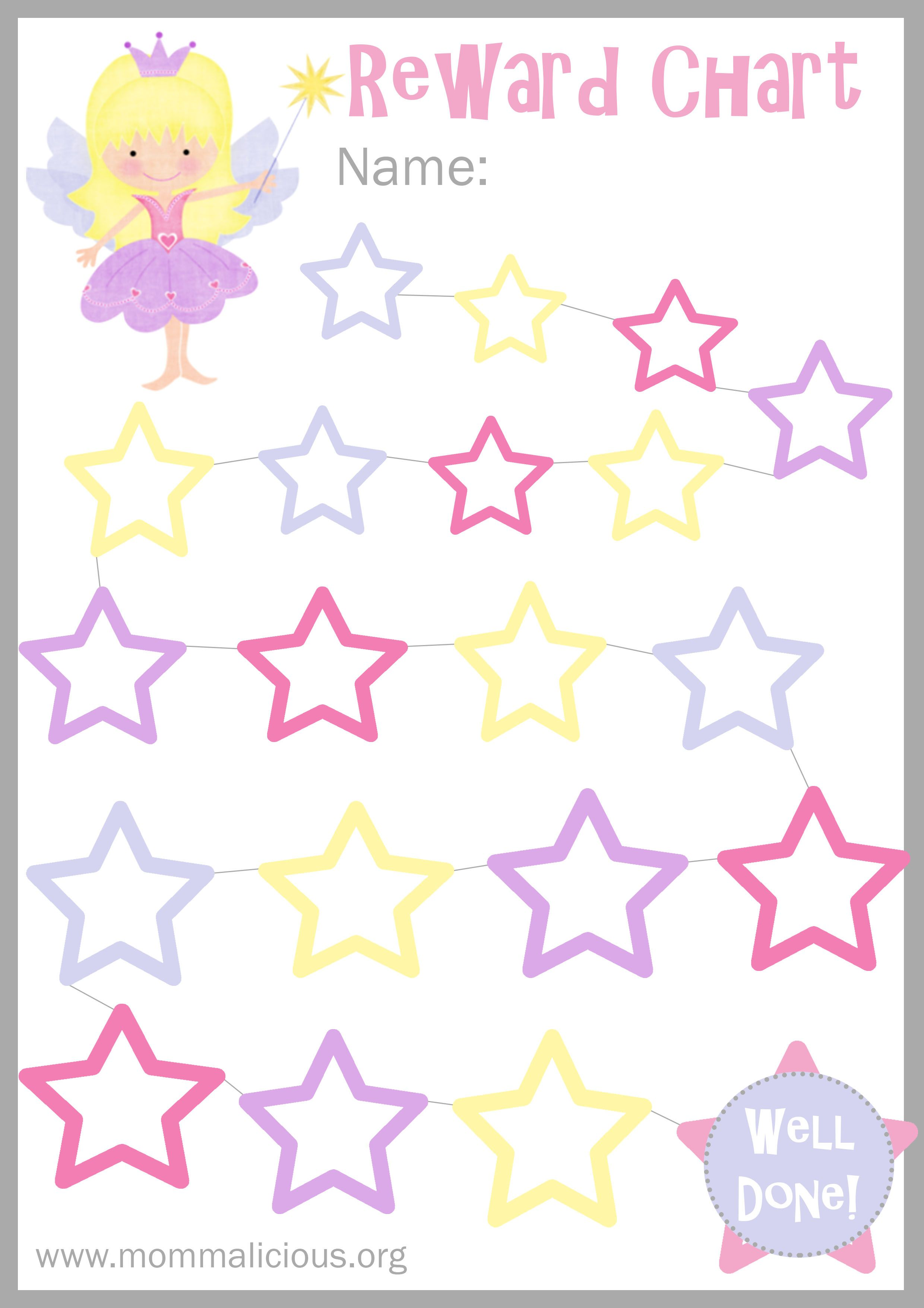 A printable rewards chart to get kids to do anything. Almost ...