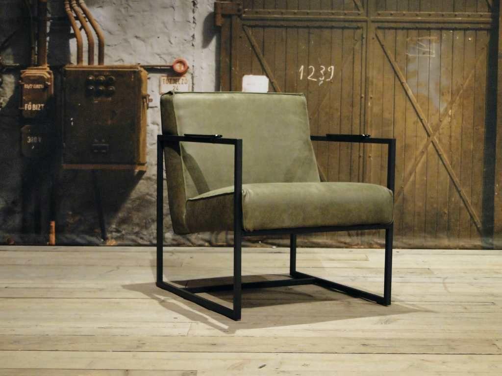 Leren fauteuil pesara wnętrza