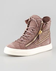 0b6e9fc6907ee High-Top Crystal-Panel Sneaker Dusty Rose in 2019 | shoes | Sneakers ...