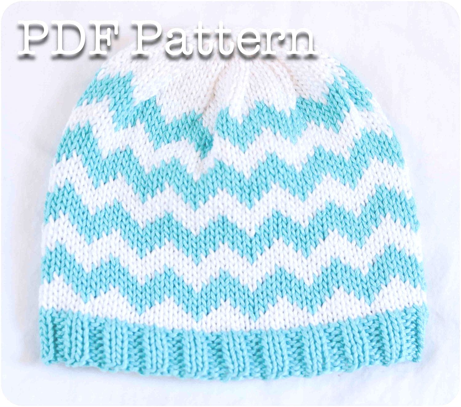 d8c925b40a3 Chevron+Knit+Baby+Hat+Pattern+by+SweetPKnits+on+Etsy