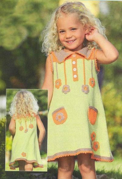 Платье вязаное лимонного цвета