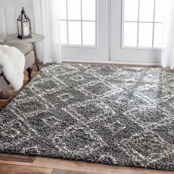 209 For Livingroom Nuloom Alexa My Soft And Plush Moroccan Trellis White Grey Easy