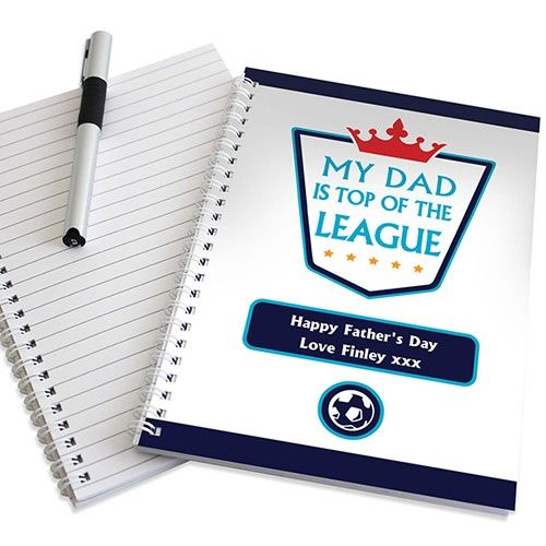 Personalised Top of the League Notebook  from Personalised Gifts Shop - ONLY £6.99