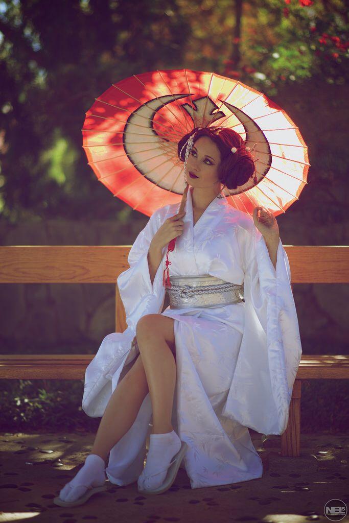 Geisha Princess Leia - Original Japanese #cosplay concept by Hendo Art