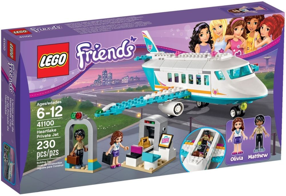 LEGO Friends Heartlake Private Jet (41100) 100% Complete w/ manual