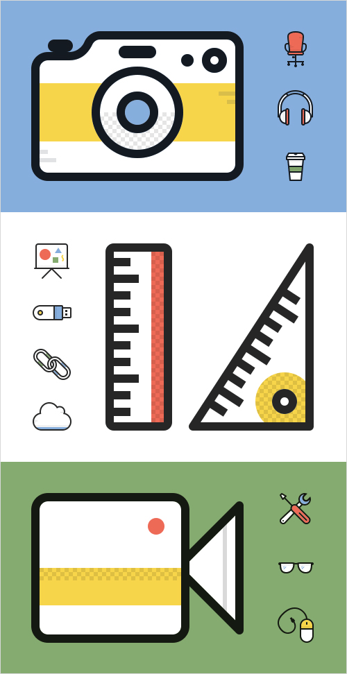 A freebie designed by Matt Skiles at Print Express: a free Dashel Icon Set available for both commercial and personal use with 45 free icons in SVG, PSD and PNG formats.