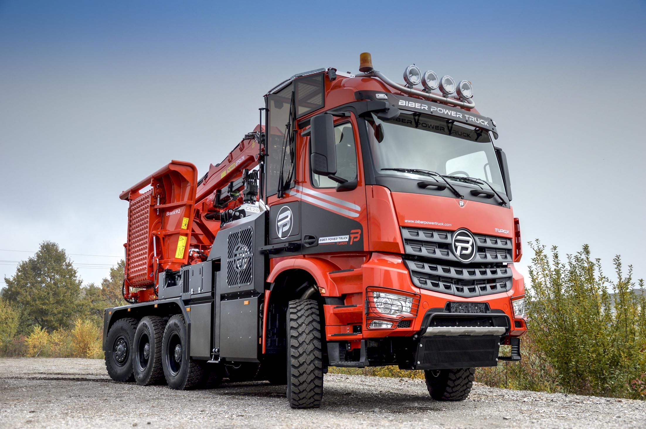 Paul nutzfahrzeuge develops and produces the all new special chassis for the biber power truck of the eschlb ck maschinenfabrik gmbh