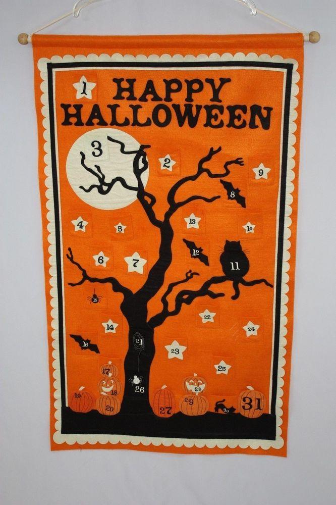 Pottery Barn Kids Halloween Spooky Tree Countdown Advent