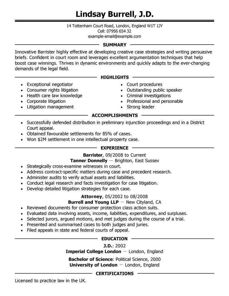 Attorney Resume Template Law Resume Sample Canada Cover Amazing Legal Resumes Examples