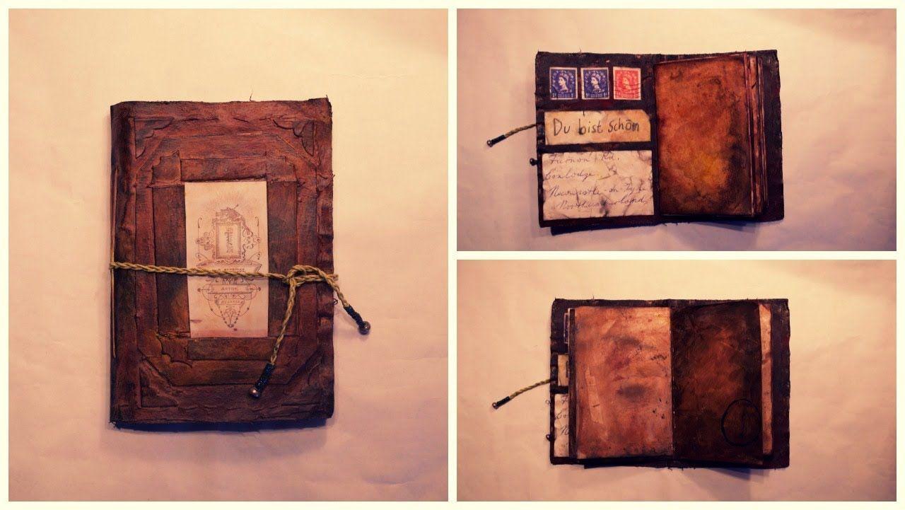 Diy Vintage Journal Diy Vintage Journal Youtube Vintage Journal Vintage Scrapbook Diy Journal