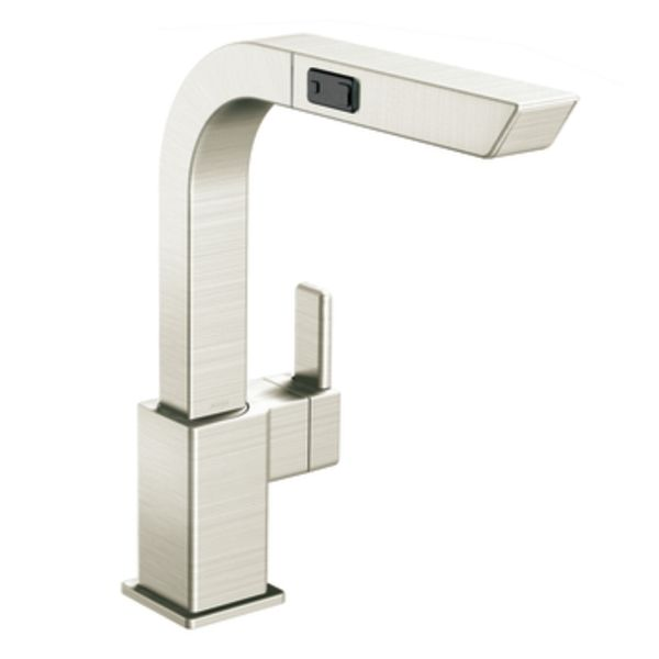 90 Degree Classic Stainless One Handle High Arc Pullout Kitchen