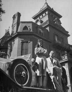 Trixietreats Charles Addams Standing By Car October 1948 Via Life Charles Addams Addams Family Cartoonist
